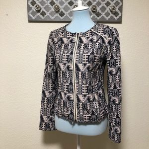 Anthropologie HEI HEI Faifo Tweed Fringe Jacket, 4